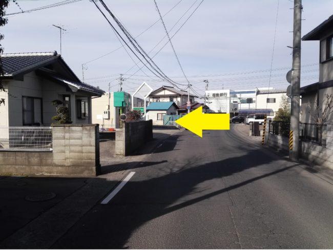笹木野駅方面から来られる場合